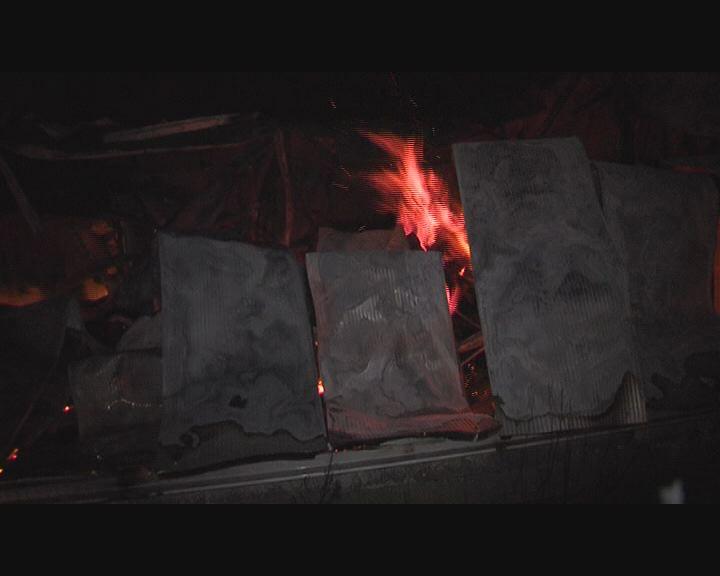 Kigyulladt egy raktár Inotán