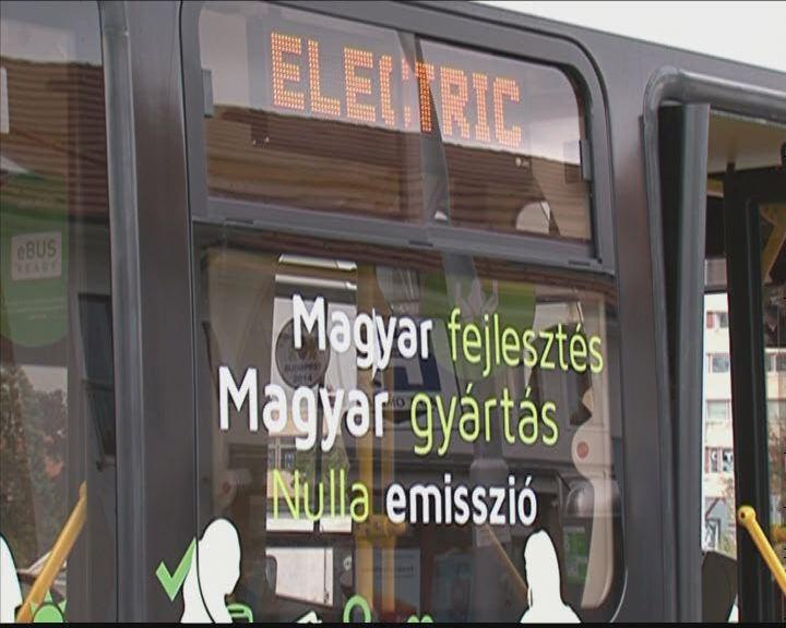 Elektromos busz bemutatója