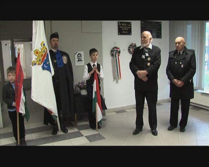 Megemlékezés a rendőrség épületében