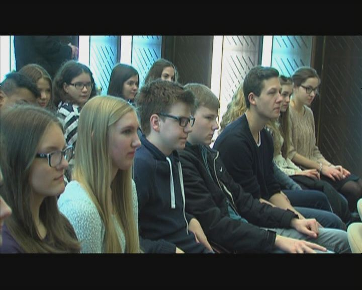 Bottropi diákok a Városházán