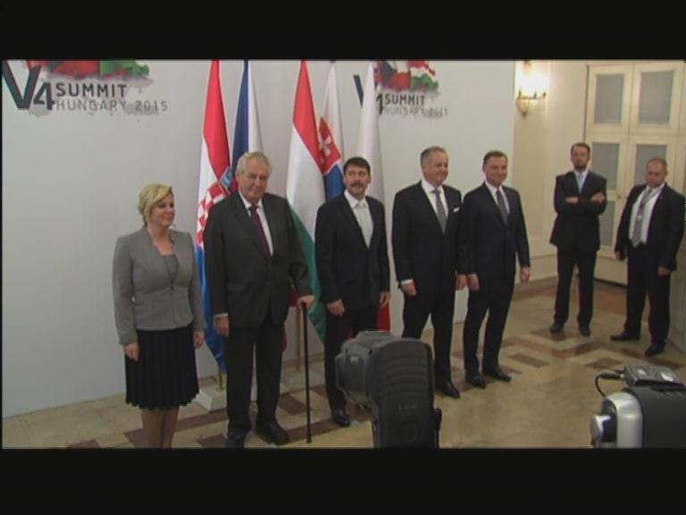 Visegrádi Csoport és Horvátország államfői tanácskoztak