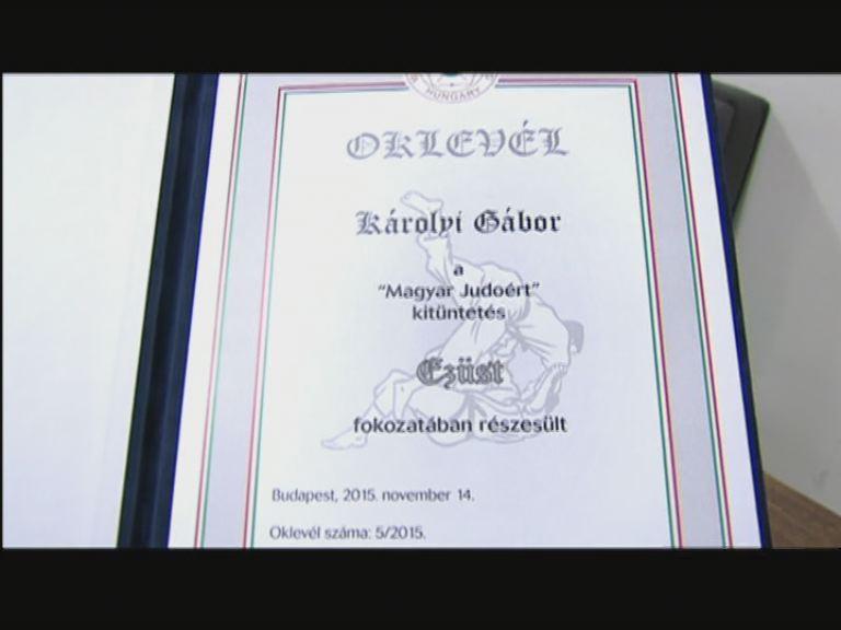 Károlyi Gábor elismerése