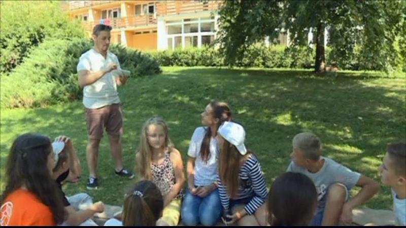 Ukrán gyerekek Zánkán