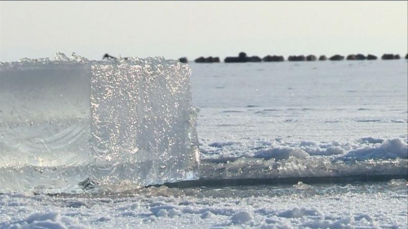Hízik a balatoni jég