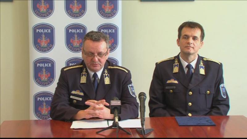 Évértékelés a Veszprémi Rendőrkapitányságnál